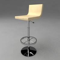 modern bar stool 3ds
