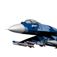 3d model of fighter aircraft