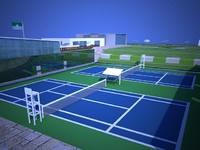 3dsmax outdoor sports club