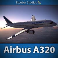 3d airbus air france a320