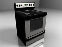 3d realistic oven range model