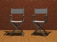 free directors chair 3d model