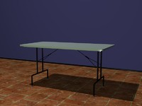 3ds max folding table