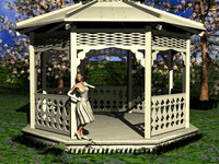 3ds max gazebo outdoor