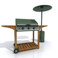 3d model heater bbq