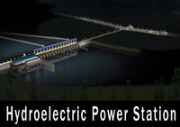 hydroelectric power station 3d model