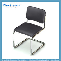 MB Upholstered Armless Cesca Chair
