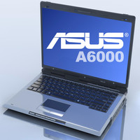3d model notebook asus a6000 laptop