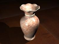 3d marble vase peach model