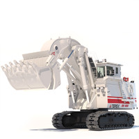 hydraulic mining excavator terex o 3d model