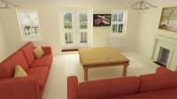 3d lounge scene