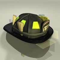 3d model helmet firefighter