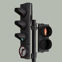 traffic light 3d 3ds