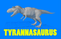 3d tyrannasaurus dinosaur