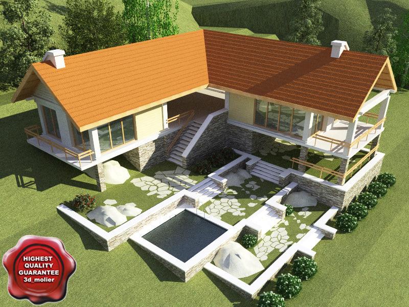 Villa v13 3d model for Villas 3d model