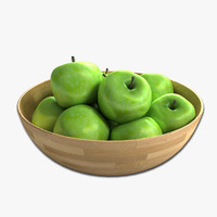 3d model apple bowl