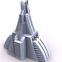 modern architecture 3d model