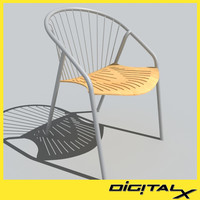 3d model cafe chair