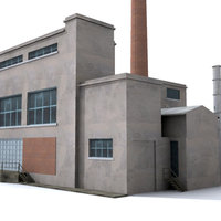 3d thermal power abandoned model