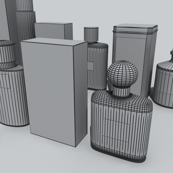 cologne bottles 3d model - cologne bottles... by DigitalX