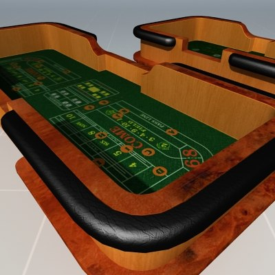3d model craps tables casinos for 12 craps table