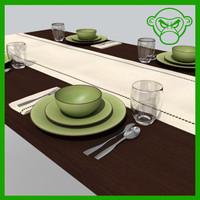 3d dining set model
