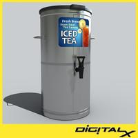 ice tea chrome 3d fbx