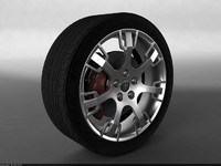 Maserati GranTurismo S Car Wheel + free Studio Render