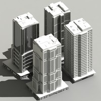 3d model building skyscraper