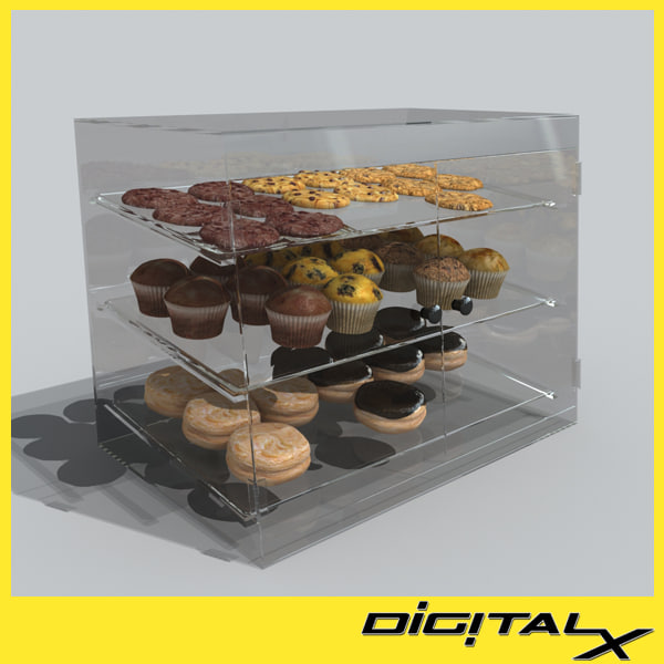 pastry case 3d model - pastry case... by DigitalX