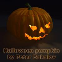 jack-o-lantern halloween pumpkin 3d ma