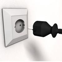 electric plug c4d