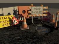 roadwork road 3d ma