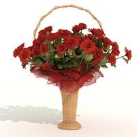 3d bunch roses model