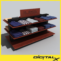 shirt table 1 3d model