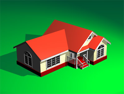 Simple house 3d 3ds Simple 3d modeling online