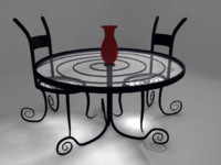 3dsmax table chairs set design