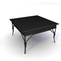 rattan coffee table 3d model