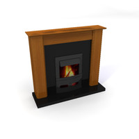 capri granite fireplace 3ds