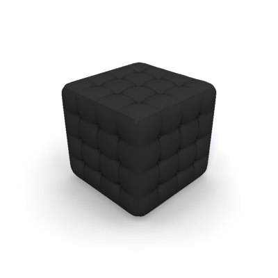 chesterfield footstool 3d model - CHESTERFIELD Footstool... by mydeco