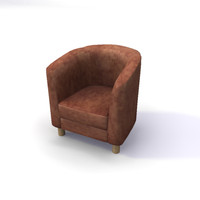 leather tub chair 3d max