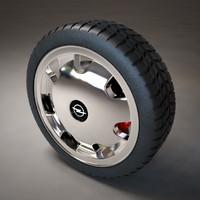 car wheel 2 3d model