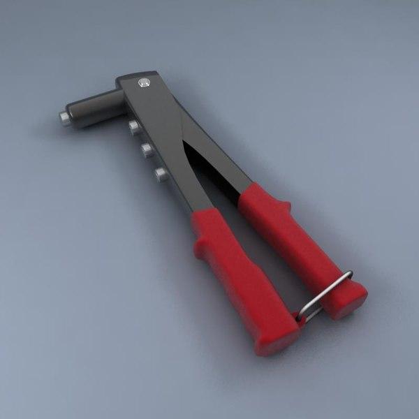 Pop Rivet Tool 3d Model