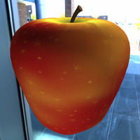3d obj gala apple