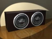 3d model boxcase pionner subwoofers