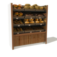 bread shelves obj