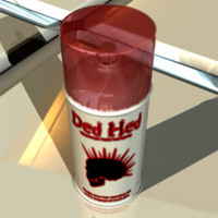 3d model ded hed hairspray