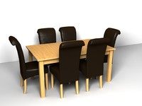 lightwave dining table chairs