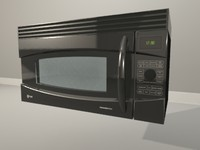 3d max black ge microwave oven