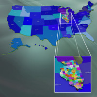 3d usa illinois counties